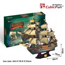 PUZZLE 3D ŻAGLOWIEC THE SPANISH ARMADA-SAN FELIPE