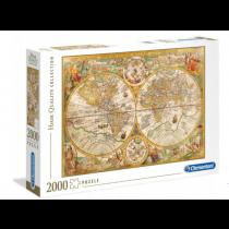 PUZZLE 2000 ANTYCZNA MAPA CLEMENTONI 32557