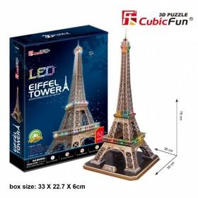 PUZZLE 3D LED WIEŻA EIFFEL 82 EL