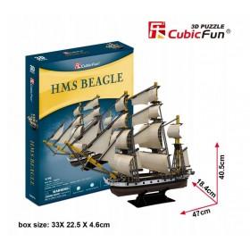 PUZZLE 3D ŻAGLOWIEC HMS BEAGLE 168 EL