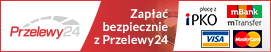 Oferujemy bezpieczne i szybkie Przelewy24